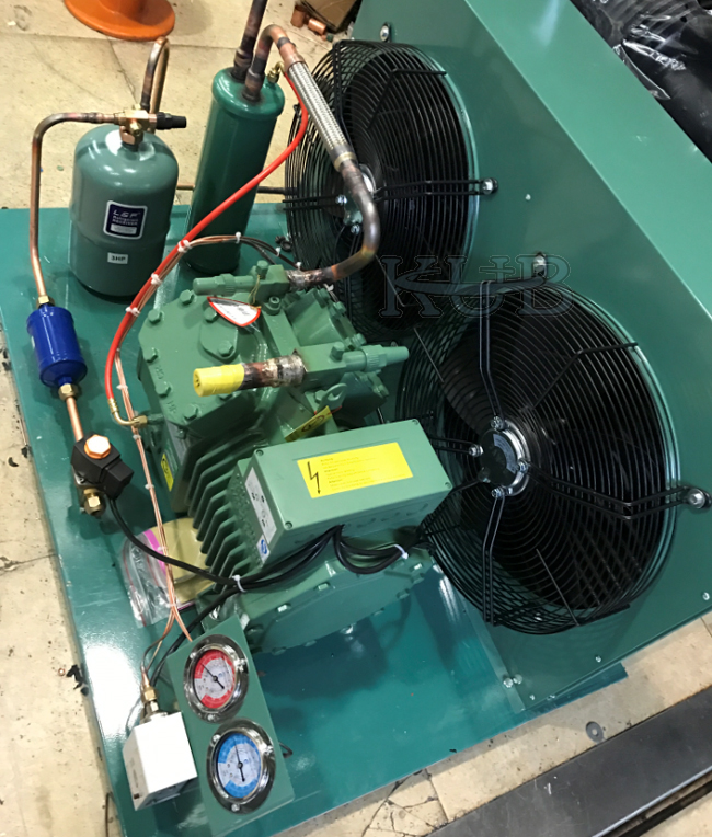 10HP Piston Compressor Bitzer Semi Hermetic Condensing Unit 4VES-10Y High Efficiency