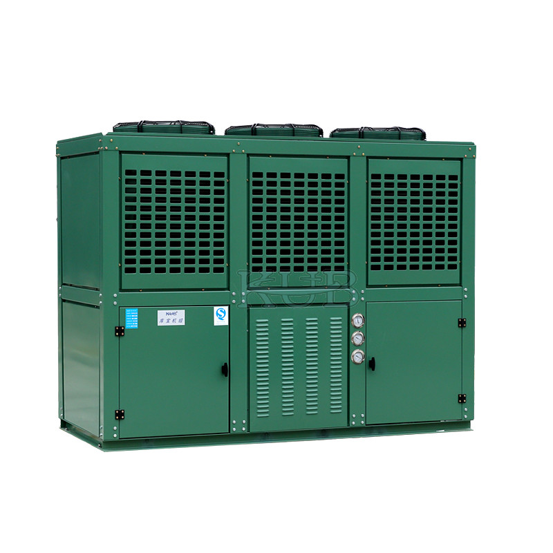Six Cylinders 2 Stage Cooler Condensing Unit Reciprocating With Mechanical Expansion Tube